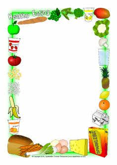 Healthy Eating Page Borders - SparkleBox - Healthy food time Food Border, Math Border, Clipart, Free Printable Stationery, Printable Labels, Printables, Calligraphy Borders, Sparkle Box, Healthy Schools