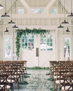 These are our favorite eucalyptus wedding ideas—they're perfect for your ceremony or reception décor. Wedding Ceremony, Our Wedding, Dream Wedding, Wedding Stuff, Wedding Flowers, Wedding Dreams, Spring Wedding, Summer Wedding Venues, Indoor Ceremony