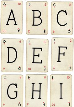 #Free #Printable #Alphabet #Cards