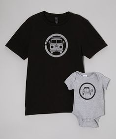 Look what I found on #zulily! Black Bus Tee & Gray Bug Bodysuit - Infant & Men by Little Treetops #zulilyfinds