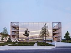 multi-storey car park in Soissons, France, by Paris firm Jacques Ferrier Architectures