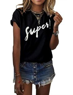 f7cd64f85682 Cool Summer Loose Female Super Letter Printed Women T shirt Tee Tops Short  Sleeve White Women Shirts Big Size Women Clothes 2017