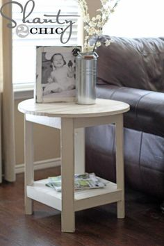 I want to make this!  DIY Furniture Plan from Ana-White.com  Make this side table inspired by Pottery Barn Benchwright Side Table! Free DIY plans from Ana White!