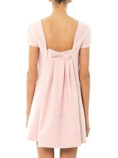 Valentino Bow-back wool-silk dress