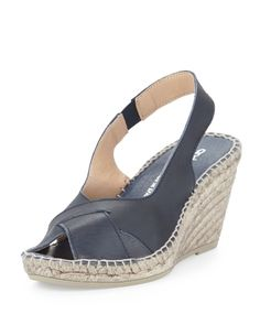 Women's Cortland Slingback Espadrille Wedge, Navy - Andre Assous from Neiman Marcus on Catalog Spree