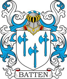 Batten Family Crest and Coat of Arms