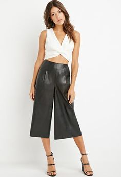 Faux Leather Gauchos | Forever 21 - 2000172266