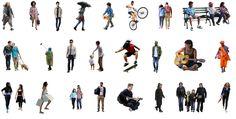 Diversos grátis cutouts de pessoas em diferentes poses e estilos – engenhariaeetc