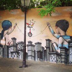 Seth et Jace Street Art à la Butte aux cailles Paris 13e