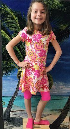Modestly Yours Swim girl's swim dress Etsy listing at https://www.etsy.com/listing/498145254/girls-modest-swimsuit-size-10