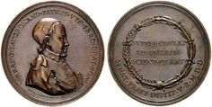 Savorgnan, Urbano (1704-1777), coin collector from Venice, medal by F. Corazzini