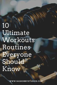 When it comes to fitness workout you need to know a variety of them but here are some but here are some 10 Ultimate Workouts Routines Everyone Should Know Flexibility Exercises, Aerobic Exercises, Balance Exercises, Fitness Exercises, 30 Minute Workout, Barre Workout, Cardio, Insanity Workout Schedule, 30 Day Workout Challenge