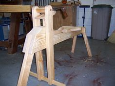 Making a shaving horse doesn't have to be an expensive or time consuming project.