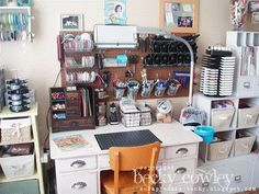 Take a tour through CardMaker blog team member Becky Cowley's creative space! Go here for an archive of the CardMaker blog team studio tours: http://www.cardmakermagazine.com/blog/?cat=24