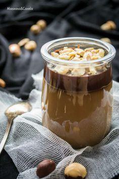 Panna cotta de avellanas y chocolate