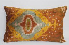 İkat Velvet Pillow Cover, 14'' x 22.5'' , Decorative Pillow, Handmade Silk Pillow, İkat Lumbar Pillow,  Shipping with Fedex 1-3 days by salihtex on Etsy https://www.etsy.com/listing/266159997/ikat-velvet-pillow-cover-14-x-225