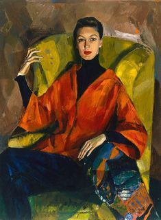 Portrait of Judy Barraclough, by Judy Cassab :: Art Gallery NSW Artist Painting, Figure Painting, Painting & Drawing, Sculpture Painting, Art And Illustration, Illustrations, Australian Painters, Australian Artists, Pinturas Art Deco