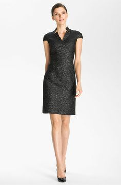 St. John Collection Chevron Jacquard Dress | Nordstrom