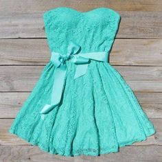 Tiffany Blue lace dress with bow