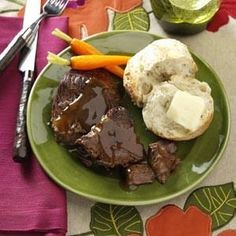 Special Sauerbraten Recipe -After simmering in the slow cooker for hours, the rump roast is fork tender and has taken on some of the flavors of the sauce. My family looks forward to having it for dinner. I serve with mashed potatoes and corn.— Laura Ehlers, Lafayette, Indiana
