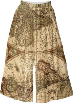 Ancient Map Culottes - Available Here: http://printallover.me/products/0000000p-ancient-map-6
