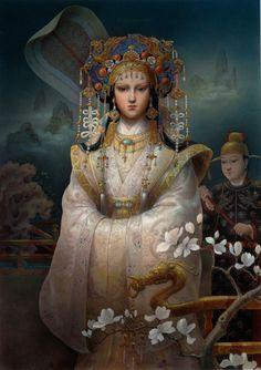 Turandot by Kinuko Y. Craft Painted for The Washington Opera