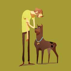 Scooby Doo characters by Marion Bordeyne Comic Character, Character Concept, Character Design, Samurai Jack, Cartoon Memes, Cartoon Characters, Scooby Doo Mystery Incorporated, Shaggy Rogers, Morning Cartoon