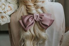 Blonde Hairstyle Braided Bow Bakaichik