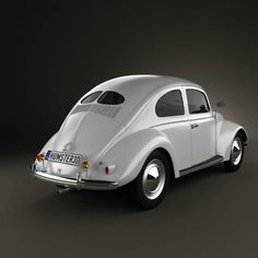 1949 Volkswagen Beetle | car | automobile | vintage | old | vw | araba | white | classic
