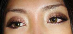 MAC Prep + Prime Eye in Light as a base  * MAC Mulch eyeshadow on entire lid  * MAC Smut eyeshadow on outer v  * MAC Pollen eyeshadow to highlight  * MAC Fluidline in Blacktrack along upper and lower lash lines