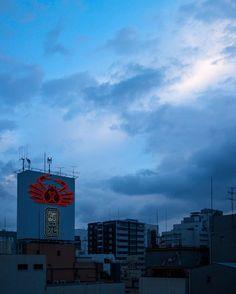 Osaka at sunset. Namba Osaka Japan. . . #osaka #travel #japan #dotonbori #sunset #viaje #japon #日本 #大阪市 #旅行 #crab #bars #namba #glico #neon #canon #eos #eosm #photography #photographer #streetphotography #martinepelde