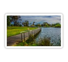 The Boardwalk at Lake Weeroona Bendigo Sticker