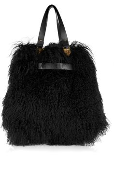 Christian Louboutin Sybil reversible shearling and leather tote