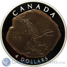 2010 Canada $4 Silver Dromaeosaurus Dinosaur Fossil Coin  http://www.gainesvillecoins.com/category/474/canadian-silver-collectibles.aspx
