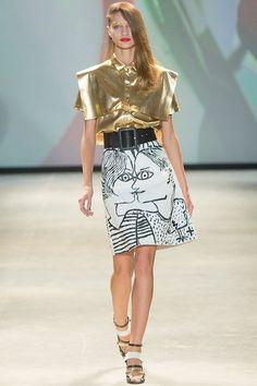 Стильная юбка-миди в стиле эклектика JC de Castelbajac.