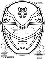 Power Rangers Megaforce free coloring masks