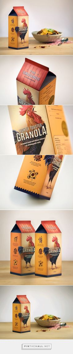 The Grounds Granola - Packaging of the World - Creative Package Design Gallery - http://www.packagingoftheworld.com/2016/02/the-grounds-granola.html