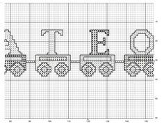 Cenefa tren patrón 2