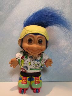 """ROLLER BLADER/ROLLER SKATER - 5"""" Russ Troll Doll #Russ #TrollDoll"""