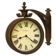 "Howard Miller® Designer Choice O'Brien Double Dial 12.25"" Wall Clock"