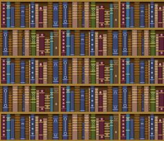 Books - jadegordon on Spoonflower. Fabric from $17.50/yd. Also sold as wallpaper and wrapping paper.