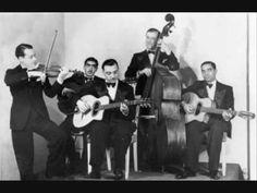 Django Reinhardt, Stéphane Grappelli and Eddie South Improvise on Bach (1937). This swing improvisation is on the 1st movement of Bach's D-minor concerto. So cool!!!