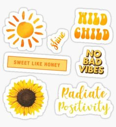 """""""Yellow Aesthetic Sticker Set """" Stickers by AnonArtistGirl Tumblr Stickers, Phone Stickers, Cute Stickers, Macbook Stickers, Tumblr Yellow, Yellow Sun, Pastel Yellow, Coral Pink, Mustard Yellow"""