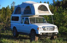 Ford Ranger FlipPac Camper I need! Truck Bed Tent, Truck Bed Camping, Camping Gear, Camping Hacks, Chevrolet Trucks, Ford Trucks, 1957 Chevrolet, 4x4 Trucks, Diesel Trucks
