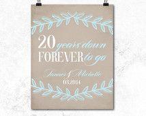 ... wife - 20th wedding anniversary gift - 20 year anniversary gift - 20