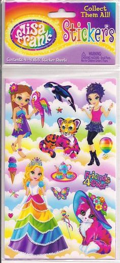 I used to have a MASSIVE Lisa Frank sticker collection! Childhood Friends, Childhood Memories, Three Sister Tattoos, Art Stuff For Kids, Lisa Frank Stickers, Polly Pocket, Ol Days, Back In The Day, Whimsical