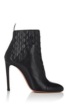 Alaïa Laser-Cut Leather Ankle Boots | Barneys New York
