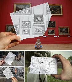 Some of the 'Pencil versus Camera' series by Benjamin Heine