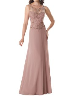 sleeveless jewel neck beaded embroidered bodice floor length a-line mother of the bride dress