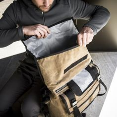 Mission Workshop AP Waxed Canvas Rummy Messenger Bag, so handsome in brown and yet too pricey (for now)..drooling.